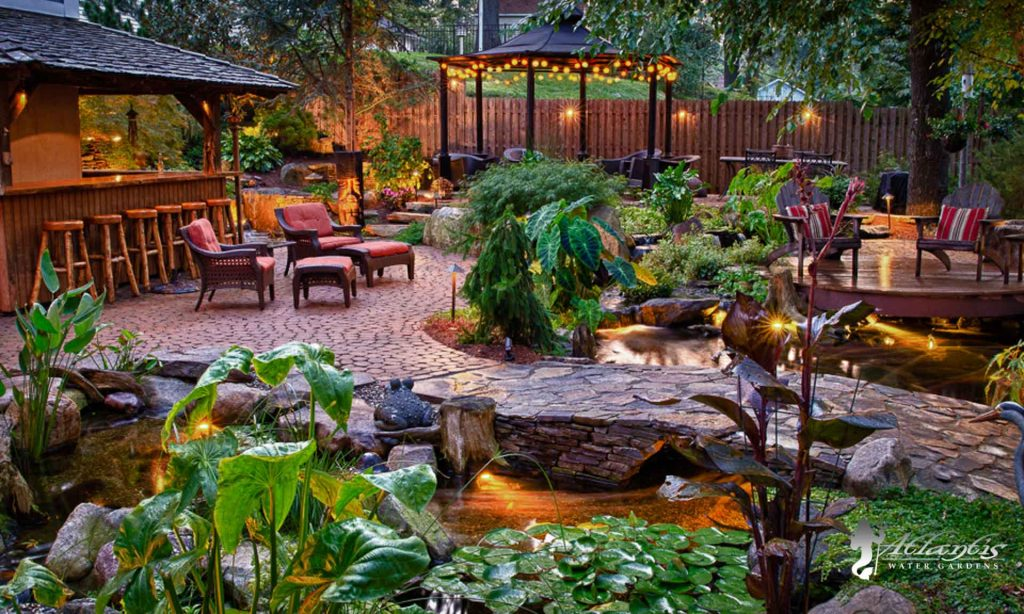 water feature project showcases with a koi pond Denville, Rockaway, Morris County New Jersey
