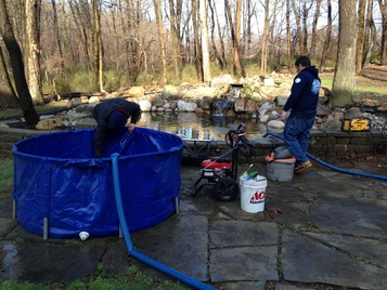 cleaning a pond in morris county nj