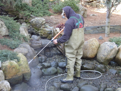 pressure washing a pond in northern nj