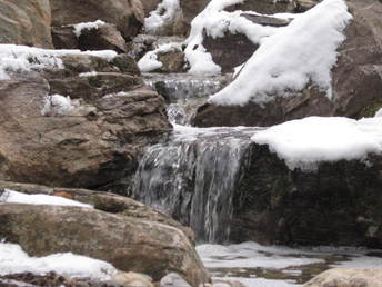 waterfall in the winter